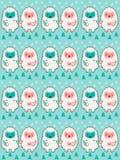 Szczęśliwe yeti pary mienia ręki Zimy tekstura Obraz Stock