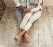 Szczęśliwego Afro Amerykańska para Zdjęcie Stock