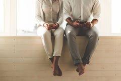 Szczęśliwego Afro Amerykańska para Zdjęcia Stock