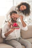 Szczęśliwego Afro Amerykańska para Fotografia Stock
