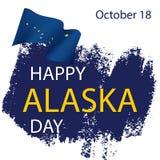 Szczęśliwego Alaska dnia świąteczny pojęcie royalty ilustracja