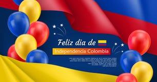 Szczęśliwego dnia niepodległości świąteczny sztandar Zdjęcie Royalty Free