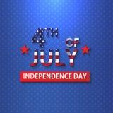 Szczęśliwego dnia niepodległości 4 th Lipa usa wektorowy ilustracyjny projekt Zdjęcia Stock