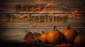 Szczęśliwego dziękczynienia ściany 4K Płomienna Drewniana pętla zbiory wideo