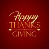 Szczęśliwego dziękczynienia jesieni spadku wektoru Typograficzna sztuka Fotografia Royalty Free