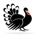 Szczęśliwego dziękczynienia wizerunku Indyczy logo ilustracja wektor