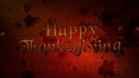 Szczęśliwego dziękczynienie Czerwonego liścia Spada 4K pętla zbiory wideo