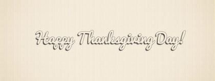 Szczęśliwego dziękczynienie dnia ilustracyjny sztandar z teksturą Zdjęcia Royalty Free