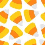 szczęśliwego halloween Cukierek kukurudza Dekoraci jedzenia element bezszwowy wzoru Opakunkowy papier, tekstylny szablon Druku sz ilustracja wektor