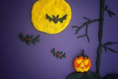 szczęśliwego halloween Dziecinna Halloweenowa sztuka Fotografia Stock
