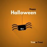szczęśliwego halloween Etykietka z pająkiem Fotografia Stock