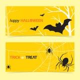 szczęśliwego Halloween, flaga, ilustracja wektor