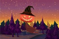 szczęśliwego halloween również zwrócić corel ilustracji wektora Obraz Stock