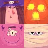 szczęśliwego halloween Set Halloween charaktery Fotografia Stock