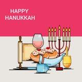 szczęśliwego hanukkah royalty ilustracja