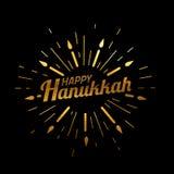 szczęśliwego hanukkah Chrzcielnica skład z geometryczna ręka rysować świeczkami w rocznika stylowy texturing z złocistej folii we Obrazy Stock