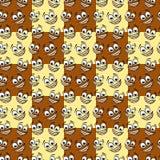 Szczęśliwego kreskówki emoticon bezszwowy wzór Zdjęcie Royalty Free
