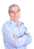 szczęśliwego mężczyzna dojrzały portret Fotografia Stock