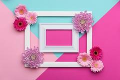 Szczęśliwego Macierzystego ` s dnia, kobiet ` s, dnia, walentynki ` s dzień, lub urodziny Pastelowy cukierek Colours tło Kwiecist Fotografia Stock