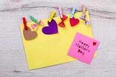 Szczęśliwego Macierzystego ` s dnia kolorowa karta Zdjęcie Royalty Free