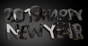 2019 szczęśliwego nowego roku śmiałych 3d renderingów Obraz Stock