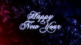 Szczęśliwego nowego roku abstrakta Mrozowi Krystaliczni boże narodzenia, marznąca nadokienna tekstura Fotografia Royalty Free