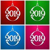 szczęśliwego nowego roku,  Bożenarodzeniowy kartka z pozdrowieniami lub plakata szablon również zwrócić corel ilustracji wektora ilustracja wektor