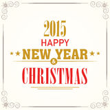 Szczęśliwego nowego roku i Wesoło bożych narodzeń świętowania kartka z pozdrowieniami Zdjęcia Royalty Free