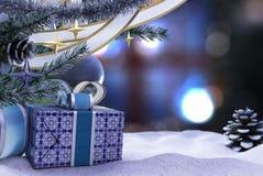 Szczęśliwego nowego roku i Wesoło bożych narodzeń skład fotografia royalty free