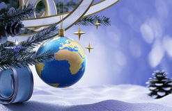 Szczęśliwego Nowego Roku i Wesoło Bożych Narodzeń tło Fotografia Stock