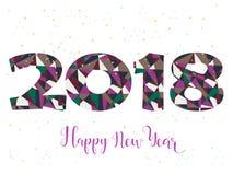 2018 Szczęśliwego nowego roku jaskrawych tło element dla prezentacj, ulotek, ulotek, pocztówek i plakatów, Trend w projekcie wekt Zdjęcia Royalty Free