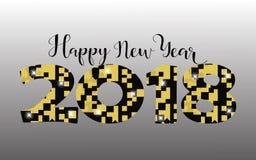 2018 Szczęśliwego nowego roku jaskrawych tło element dla prezentacj, ulotek, ulotek, pocztówek i plakatów, Trend w projekcie wekt Obrazy Royalty Free