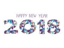 2018 Szczęśliwego nowego roku jaskrawych tło element dla prezentacj, ulotek, ulotek, pocztówek i plakatów, Trend w projekcie wekt Fotografia Royalty Free