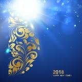 szczęśliwego nowego roku karty Obrazy Stock