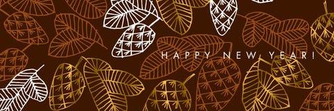 Szczęśliwego nowego roku koloru sztandaru wektorowy szablon ilustracji