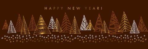 Szczęśliwego nowego roku koloru sztandaru wektorowy szablon ilustracja wektor