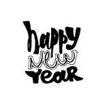 szczęśliwego nowego roku, Nowożytna kaligrafia i muśnięcia literowanie Zdjęcie Royalty Free