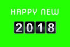 2017 2018 szczęśliwego nowego roku pojęcia rocznika odliczanie analogowych odpierających zegarów, retro trzepnięcie liczba odpier Obraz Stock