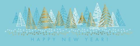 Szczęśliwego nowego roku sztandaru wektorowy szablon ilustracja wektor