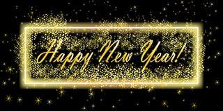 szczęśliwego nowego roku tło Kartka z pozdrowieniami projekta szablon również zwrócić corel ilustracji wektora sztandaru szablon ilustracja wektor
