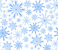 Szczęśliwego nowego roku wektorowy błękitny bezszwowy tło z spada płatkami śniegu ilustracji