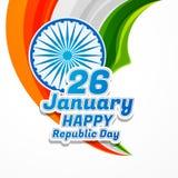 Szczęśliwego republika dnia plakatowy wektorowy projekt Zdjęcie Stock