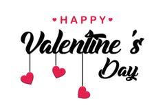 Szczęśliwego valentines dnia ręcznie pisany literowania wakacyjny projekt kartka z pozdrowieniami, plakat, gratuluje, kaligrafia  ilustracja wektor