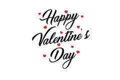 Szczęśliwego valentines dnia ręcznie pisany literowania wakacyjny projekt kartka z pozdrowieniami, plakat, gratuluje, kaligrafia  ilustracji