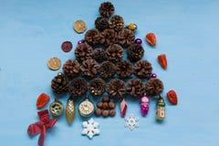 Szczęśliwego wakacje Bożenarodzeniowego nowego roku prezentów bożych narodzeń drzewny tło zdjęcie stock