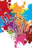 Szczęśliwej Holi farby kolorowy tło Obrazy Royalty Free