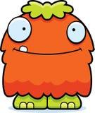 Szczęśliwej kreskówki Puszysty potwór ilustracji