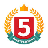 Szczęśliwej kwinty odznaki wektoru urodzinowa ikona ilustracji