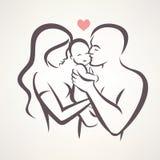 Szczęśliwej rodziny stylizowany wektorowy symbol ilustracja wektor