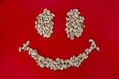 Szczęśliwej twarzy łaciate fasole Zdjęcie Royalty Free